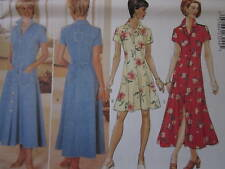 Vintage Butterick SEWING Pattern 4387 Misses Button Front Dress UNCUT EASY OOP