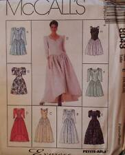 Vintage McCalls SEWING Pattern 8043 Misses Evening Prom Formal Dress Gown UNCUT