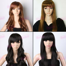 Women's Wavy Curly Straight Cosplay Party Wigs Fancy Dress Make Up Full Wig