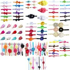 6/9/10/12/13/15pcs Lot Girl Baby Hairbow Flower Feather + Skinny Thin Headbands