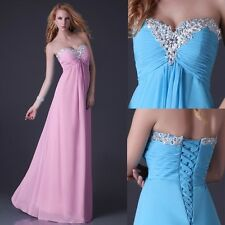 Strapless Chiffon Bridesmaid Party Gown Prom Ball Evening Formal Long Maxi Dress