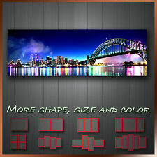 ' Sydney Skyline Night Australia ' Cityscape Panoramic Canvas Box