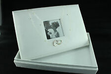 Wedding Memory Box White Bridal Bride Pictures Gift Silver Keepsake Box Married
