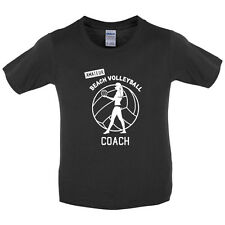 Amateur Girls Volleyball Coach-Kids / Childrens T-Shirt - 7 Colours - Funny