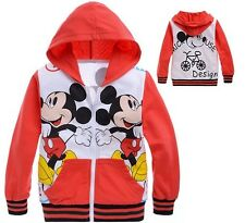 Classic New Kids Toddlers Mickey Mouse Coat Boys Girls Funny Hoodie Clothes 2-8Y