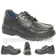 NEW BOYS SMART COMFORTABLE BLACK FORMAL TROUSER SHOES FOR SCHOOL MENS WORK SHOES