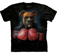 THE MOUNTAIN ROCKY BOXING GLOVES BOXER DOG PUPPY ANIMAL  BIG FACE ADULT  T SHIRT