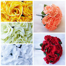 4 pcs Velvet Artificial Roses Wedding Bouquets - Bridal Flowers - FREE Shipping