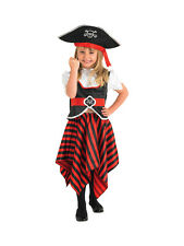 Pirate Girl & Hat Fancy Dress Book Week Child Kids Party Halloween Costume