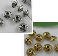 Wholesale 100Pcs Tibetan Silver/Gold Spacer Beads For Jewelry Making DIY 6x4mm
