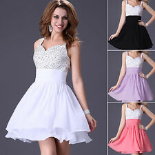 Stock Beaded Party Cocktail Homecoming Prom Short Gown Evening Bridesmaid/Dress