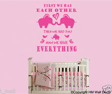 NURSERY removable wall stickers - elephant 2