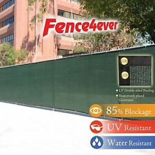Dark Green 6'x50' Fence Windscreen Privacy Fence Cover Mesh (ZIP TIE included)