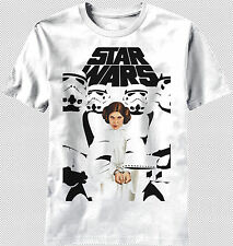 New Star Wars Logo Princess Leia Captured Handcuff Stormtroopers T-shirt top