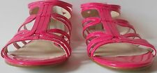 NINE WEST MAKAIA HOT PINK GLADIATOR SANDALS OPEN TOE WOMENS MSRP $59.00 NWOB