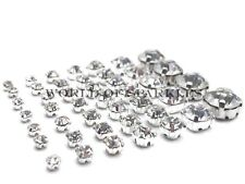 SEW ON Clear Crystal DIAMANTE Rhinestones - AAA* Grade Glass-ALL Sizes Available