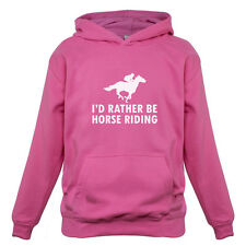 I'd Rather Be Playing Horse Riding - Kids / Childrens Hoodie - Equestrian-Gift