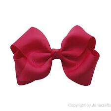 """Lot 50-300x 3.5-4.5"""" Girl Baby Boutique Ribbon Hair Bow Clip U Choose Color Size"""