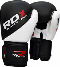 RDX Rex Leather Boxing Gloves Fight Punch Bag Muay Thai Grappling Pads MMA UFC U