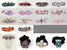 Embellished Flower Butterfly Hair Accessories Scrunchie Clasp Claw Comb Grip