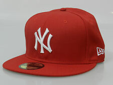 New Era Men's Fitted Hat 59FIFTY MLB New York Yankees Red White