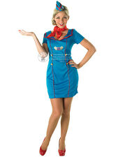 Adult Mile High Air Hostess Fancy Dress Costume Sexy Airline Stewardess BN