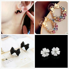 Wholesale Fashion Women Girls Hot Cute Sweet Crystal Acrylic Earring Ear Stud