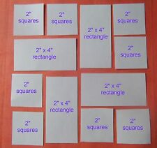 90 SQUARE & RECTANGLE TEMPLATES FOR PATCHWORK ~NEW COMBO PACK~ QUILTING KITS