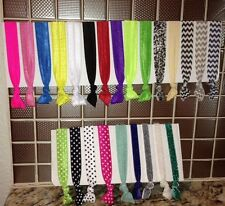 Elastic Ribbon Hair Ties, Yoga Tie or Cross fit Tie -- Your Choice of Colors