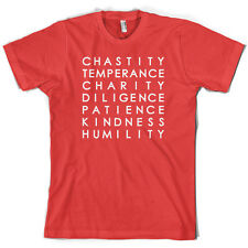 7 Catholic Virtues - Mens T-Shirt - 10 Colours - Bible - Free UK Delivery