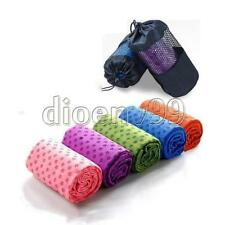 Non-slip Blanket Silicone Dots Yoga Towel Mat Cover Plate with Mesh Carrying Bag