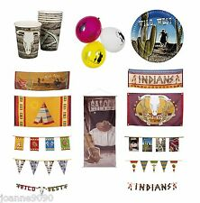 *NEW COWBOYS AND INDIANS WILD WEST WESTERN BIRTHDAY PARTY TABLEWARE DECORATIONS*