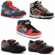 New Kids Boys Superhero Velcro Lace Up Street Trainers Sneakers Shoe Size UK 8-1