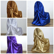 50 Universal SATIN Self Tie for any kind of CHAIR COVER Wedding - 8 Colors!