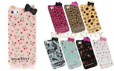 Apple iPhone 44s Hello Kitty Lovely Bow Pastoral Floral Hard TPU Case Cover Skin