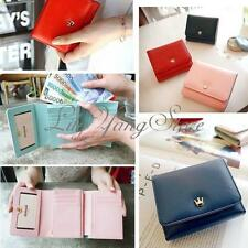 Women Lady Leather Envelope Crown Wallet Clutch Purse Card Money Coin Bag Pouch