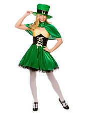 Ladies Sexy Lucky Leprechaun St Patricks Day Irish Fancy Dress Costume BN