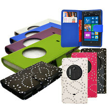 New 7 Colour PU Leather Wallet Flip Mobile Phone Case Cover For Nokia Lumia 1020