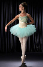 VIGNETTE Mint Lace Overlay Ballet Tutu Dance Costume Child XS,Small & Medium NEW