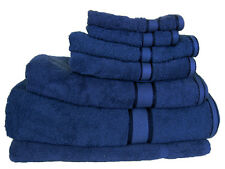 Navy 100%  Cotton Bath Towel Range 7 Pieces Set or Single Pieces Choice