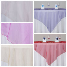 "6 pc 72x72"" Sheer Organza Overlays Wedding Party Table Decorations"