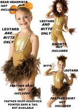 Leotard & Mitts Only Matches DANDY LION REINDEER Dance CHRISTMAS Costume Adults