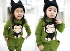 Baby Boy's/Girl's Winter Monkey Children's Track Suit Sports Outfit Set