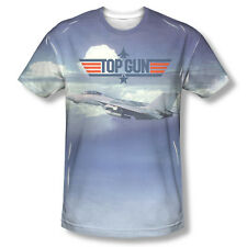 Top Gun Movie F-14A Tomcat Flying Logo Sublimation ALL OVER Vintage T-shirt top
