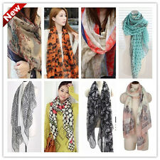 2013 New winter fall Womens flowers voile Soft Long Shawl Scarf Wrap Stole W034