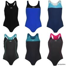 Slazenger Ladies New Racer Back Swim Suit Swimming Costume Swimmers Sizes 6-22