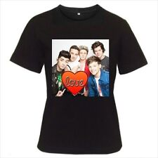 One Direction Big Love Heart High-Quality Women's Black White Color T-Shirts