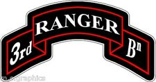 STICKER US ARMY UNIT 3RD RANGER BATTALION SCROLL