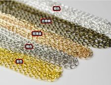 10ft Extension Chain Tail Links Jewellery Findings necklace Tail 5 colors