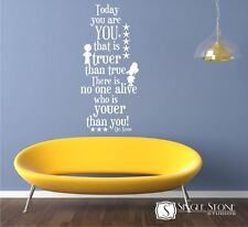 Today You Are You Dr. Seuss Wall Decal Quote - Vinyl Wall Stickers